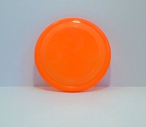 "9"" High-Visibility Plastic Flying Disc Dog Toy"