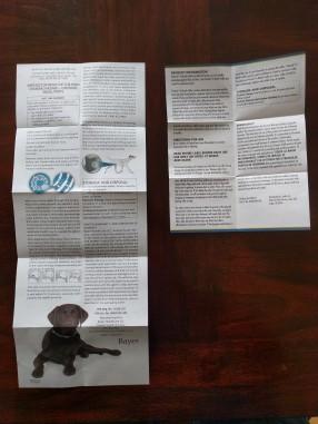Seresto and PetLock product brochures (back)