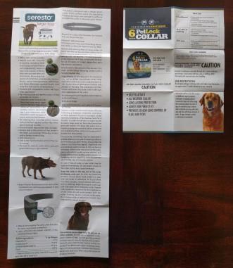 Seresto and PetLock product brochures