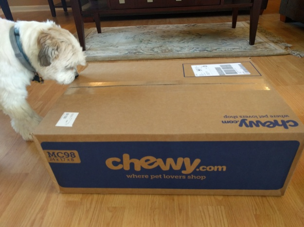 box from chewy.com has arrived