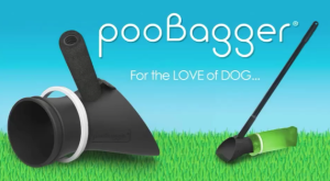 PooBagger pet waste removal system. Comfort handle (left) or with optional handle extension (right). www.poobagger.com
