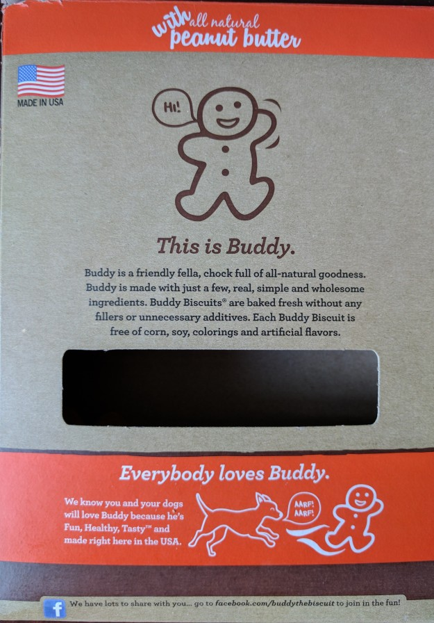 Buddy Biscuits box back