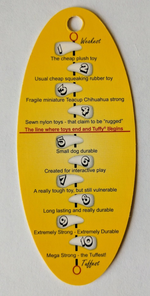 Tuffy Ocean Creatures Lobster toughness scale