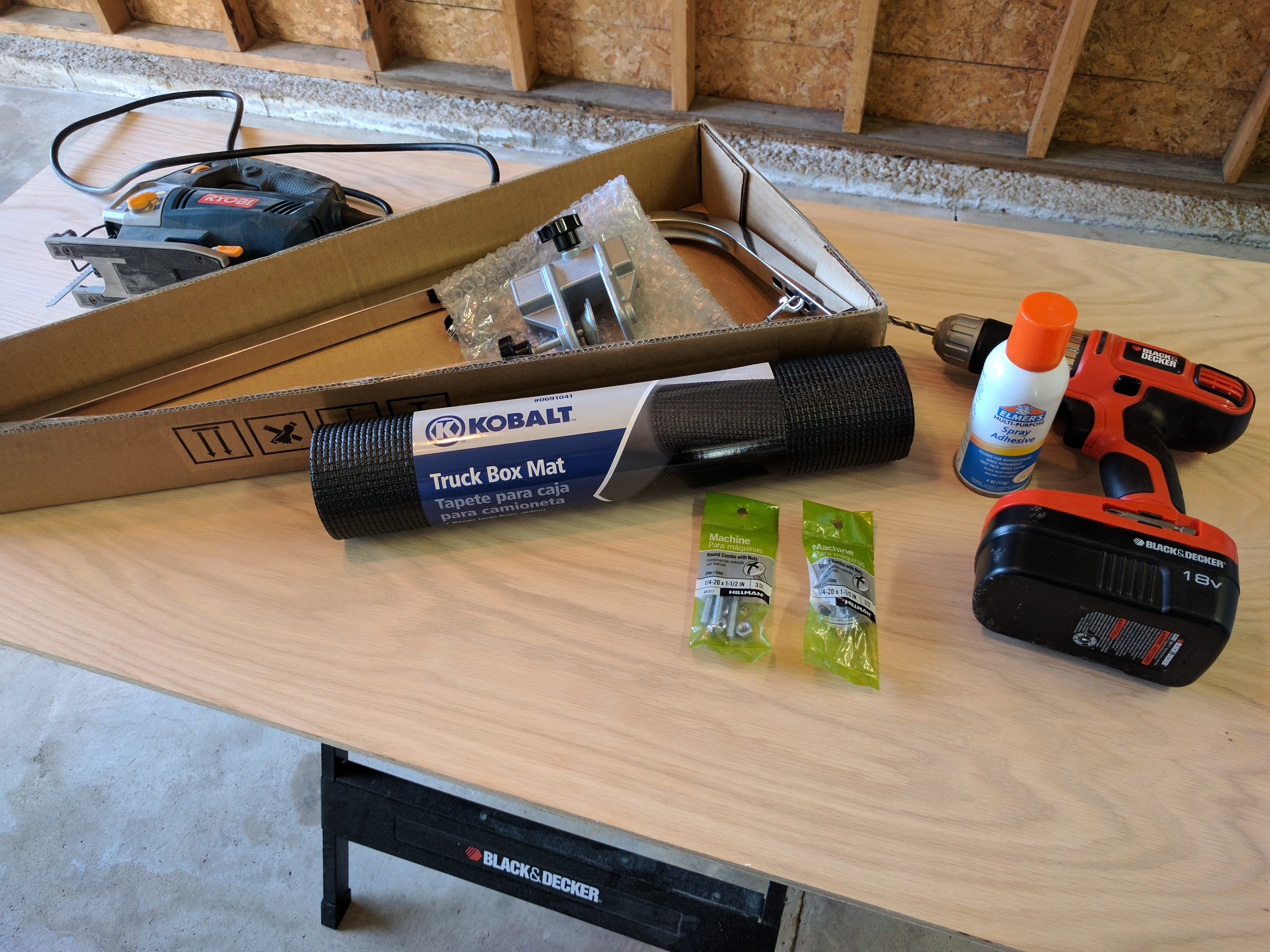 Tools I used to build my small dog grooming table