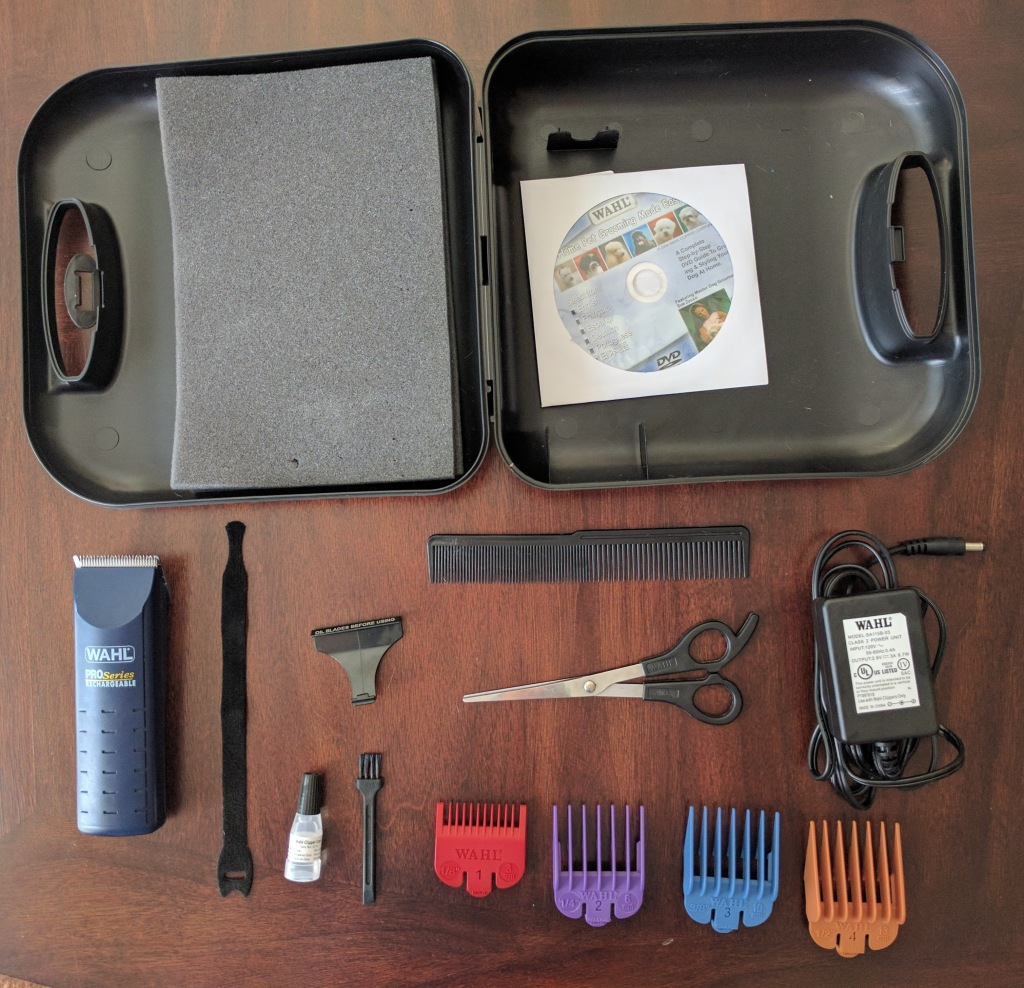 14-piece Wahl Pro-Series Pet Clipper Kit contents