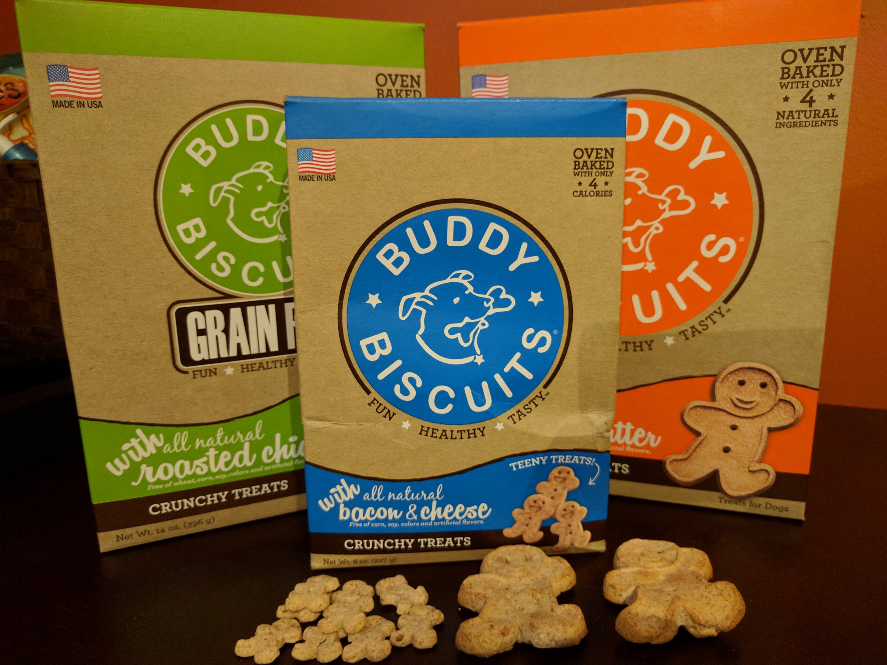 Buddy Biscuits regular size and Tiny Treats