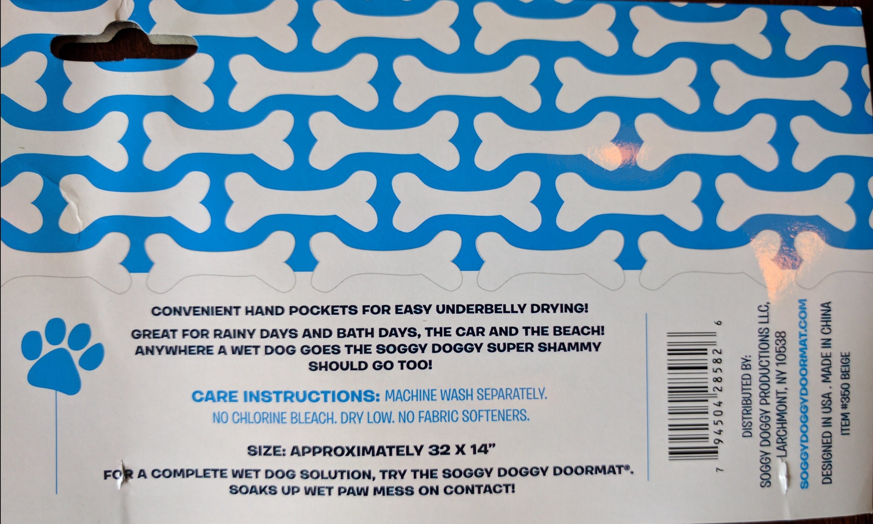 Soggy Doggy Information tag