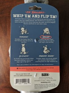 BarkBox Destroyer Club toy packaging