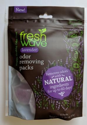 Fresh Wave Lavender Odor Removing Packs packaging