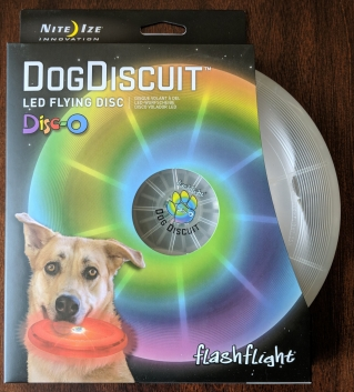DogDiscuit flying LED disc dog toy packaging